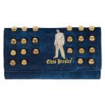 Elvis Gold Lame Studded Wallet