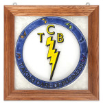Elvis TCB Stained Glass