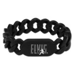 Elvis Silhouette Black Link Band