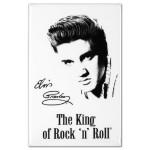 Elvis Presley The King of Rock & Roll White Magnet
