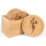 Elvis Presley TCB Bamboo Coasters Set of 5