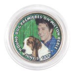 "Elvis Presley ""Hound Dog Premieres on Milton Berle"" Colorized State Quarter Coin"