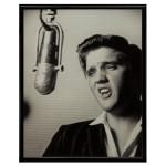 "Elvis Microphone Framed 8x10"" Print"