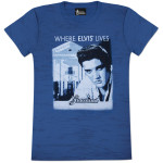 Elvis Graceland Burnout Ladies T-Shirt