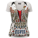 Elvis American Eagle Jumpsuit Ladies T-Shirt