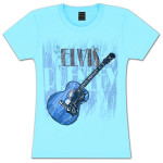 Elvis Rhinestone Sketch Juniors T-shirt