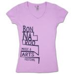 2014 Bonnaroo Women's Stairs V-Neck Shirt