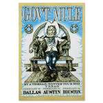 "Gov't Mule 2010 ""By A Thread"" Winter Tour Texas Event Poster"