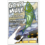 Gov't Mule 2009 Seattle WA Showbox Event Poster