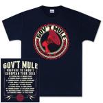 Gov't Mule Prepare To Shout 2013 European Tour T-Shirt