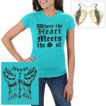 House of Blues Turquoise Soul Wings and Feather Charm Pick Earrings Bundle