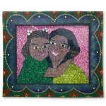 """""""Jasmine and Mother"""" Painting by Glitter Girl (27 x 23)"""