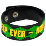 Help Ever - Hurt Never Black Bracelet