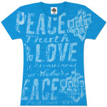House of Blues Womens Love & Peace T-Shirt
