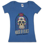 House of Blues Sugar Skull Women's T-Shirt - Myrtle Beach