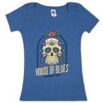 House of Blues Sugar Skull Women's T-Shirt - Houston