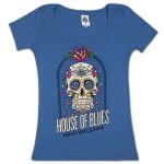 House of Blues Sugar Skull Women's T-Shirt - New Orleans
