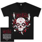 Skull V-Neck with Bands
