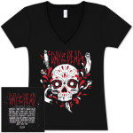 Skull Ladies V-Neck with Bands