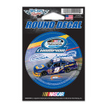 Chase Elliott 2014 Nationwide Series Champ Round Decal 3""