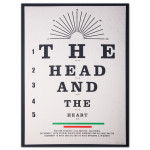 """The Head and The Heart """"Eye Chart"""" LA Tour Poster"""