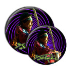 Jimi Hendrix Swirl Button