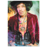 "Jimi Hendrix Velvet Coat 4""x6"" Postcard"