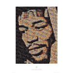 Jimi Hendrix Mosaic Door Poster