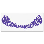 Jimi Hendrix Rub On Are You Experienced Sticker (Purple)