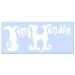 Jimi Hendrix Rub On  Psychedelic Experience Sticker (White)