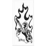 Jimi Hendrix Rub On Silhouette Sticker (Black)