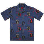 Jimi Hendrix Signature Camp Blue Shirt