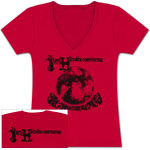 Jimi Hendrix: Are You Experienced MONO Red Ladies T-Shirt