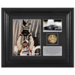 Jimmie Johnson #48 2012 All Star Win Framed 6X5 & 3 1/2 X 2 1/2 photos and race winner 10K gold plated coin