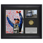 Jimmie Johnson 2013 Martinsville Win Photo(s) with Gold Coin
