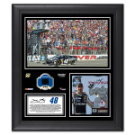 Jimmie Johnson 2014 NASCAR Sprint Cup Series FedEx 400 Race Win Framed 15'' x 17'' Collage With Race-Used Tire