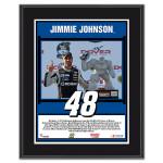Jimmie Johnson 2014 NASCAR Sprint Cup Series FedEx 400 Race Win Sublimated 10.5'' x 13'' Plaque