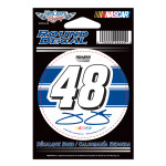 "Jimmie Johnson-2014 3'"" round decal"