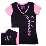 Jimmie Johnson #48 Ladies Interval V-neck T-shirt