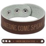 "John Mayer ""Speak For Me"" Leather Wristband"