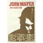 John Mayer 2007 Canada Tour Poster