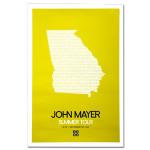 John Mayer - Atlanta 2008 Tour Poster