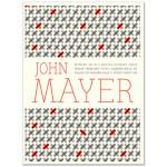 John Mayer 2/12/10 Auburn Hills, MI Battle Studies Tour Poster