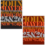 John Mayer NYC Serigraph by House Industries
