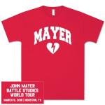 Unisex Houston, TX John Mayer Tour T-Shirt
