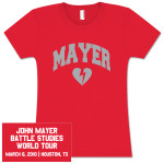 Womens Houston, TX John Mayer Tour Event Tee