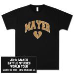 Unisex New Orleans, LA John Mayer Tour T-shirt
