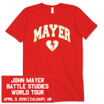 John Mayer Unisex Calgary Event T-Shirt
