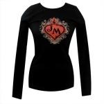John Mellencamp Eden Is Burning Flaming Heart Ladies Long Sleeve Shirt