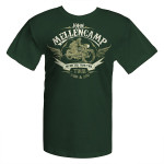 John Mellencamp 2010-2011 Green Motorcycle T-Shirt